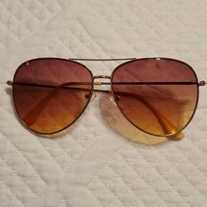 American Eagle gold aviator sunglasses